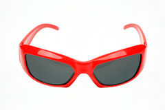 Red eyeglasses. On a white background Stock Photo