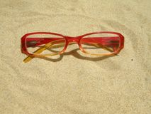 Red eyeglasses Royalty Free Stock Photos