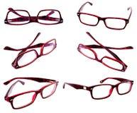 Red eyeglasses frames Stock Images
