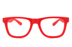 Red eyeglasses Stock Image