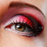 Red eyeshadow Stock Images