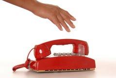 red för 3 telefon Royaltyfria Foton
