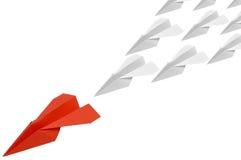 red för 4 paperplane Arkivbild