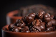 red för bönakaffekopp Arkivbilder