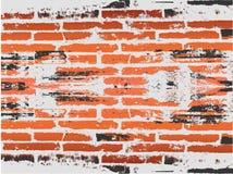 red för bakgrundstegelstengrunge Royaltyfria Bilder