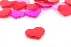 red för begreppshjärtaförälskelse Fotografering för Bildbyråer
