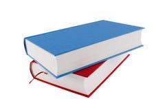 red för blå bok Royaltyfria Foton