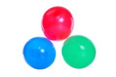 red för blå green för baloons Royaltyfri Foto