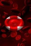 red för blodcellkors Royaltyfri Fotografi