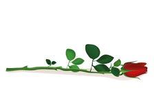 red för blomma en Steg lögner valentin för kortdaghälsning s Royaltyfri Fotografi