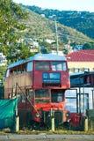 red för bussdäckaredouble arkivfoto