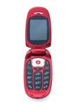 red för cellfliptelefon Arkivfoto