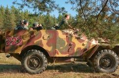 red för efterföljd för arméslagsmål tysk Arkivfoto