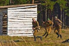 red för efterföljd för arméslagsmål tysk Arkivbilder