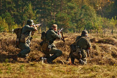 red för efterföljd för arméslagsmål tysk Royaltyfri Foto
