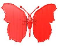 red för fjärilsdatalistmålarfärg vektor illustrationer