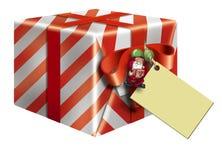 red för gåva för askkortjul stock illustrationer
