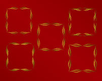 red för guld för ram för bakgrundsfärg mörk dekorativ Royaltyfri Bild