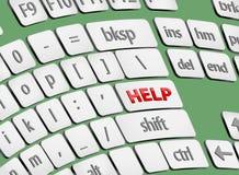 red för hjälp för pilknappdiagram Fotografering för Bildbyråer