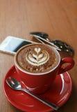 red för kaffekopp Arkivfoto