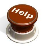 red för knapphjälp Arkivfoto