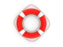 red för lifebelt 3d Arkivfoto