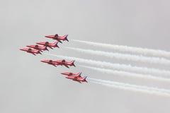 red för luftpilskärm Arkivfoton