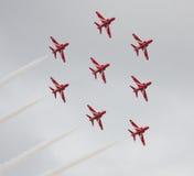 red för luftpilskärm Royaltyfri Bild