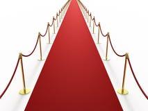 red för matta oändligt long Royaltyfria Bilder