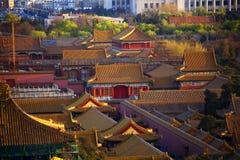 red för paviljong för beijing porslin stad förbjuden arkivfoton