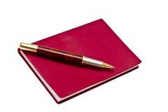 red för penna för bokanmärkning Royaltyfri Foto