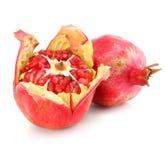 red för pomegranate för matfrukt sund isolerad Royaltyfria Foton