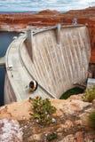 red för sida för glen för framdel för arizona kaktusfördämning arkivbild