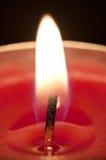 red för stearinljuscloseupflamma Royaltyfria Bilder