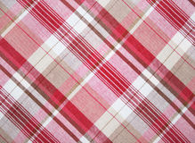 Red fabric. Red plaid pattern in gingham fabric Royalty Free Stock Photography