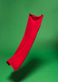 Red fabric in the air Royalty Free Stock Photos