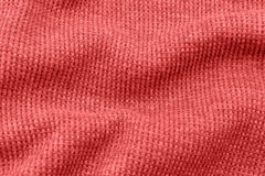 Red fabric as the background. Stock Photography