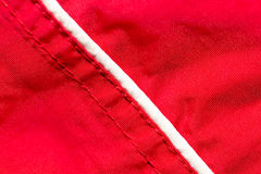 Red fabric as background Royalty Free Stock Images