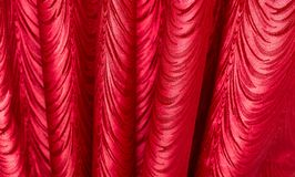 Red fabric as a background. texture Stock Images