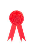 Red fabric award ribbon isolated on white Stock Photos