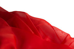 Red fabric, backdrop Royalty Free Stock Photos