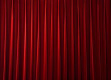 Red fabric background Stock Photos
