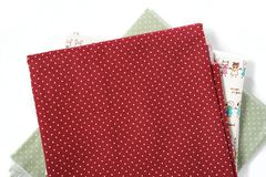 Red fabric background Royalty Free Stock Photo