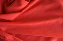 Red fabric background Royalty Free Stock Photos