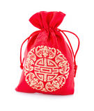 Red fabric bag or ang pow. royalty free stock images
