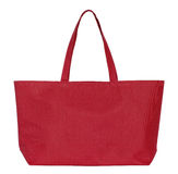Red fabric bag isolated on white Stock Images