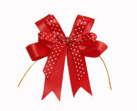 Red Fabric bow Royalty Free Stock Image