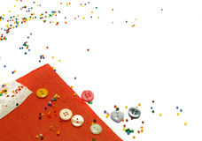 Red fabric and buttons Stock Image