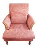Red fabric chair stock photography