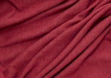 Red fabric closeup Stock Image